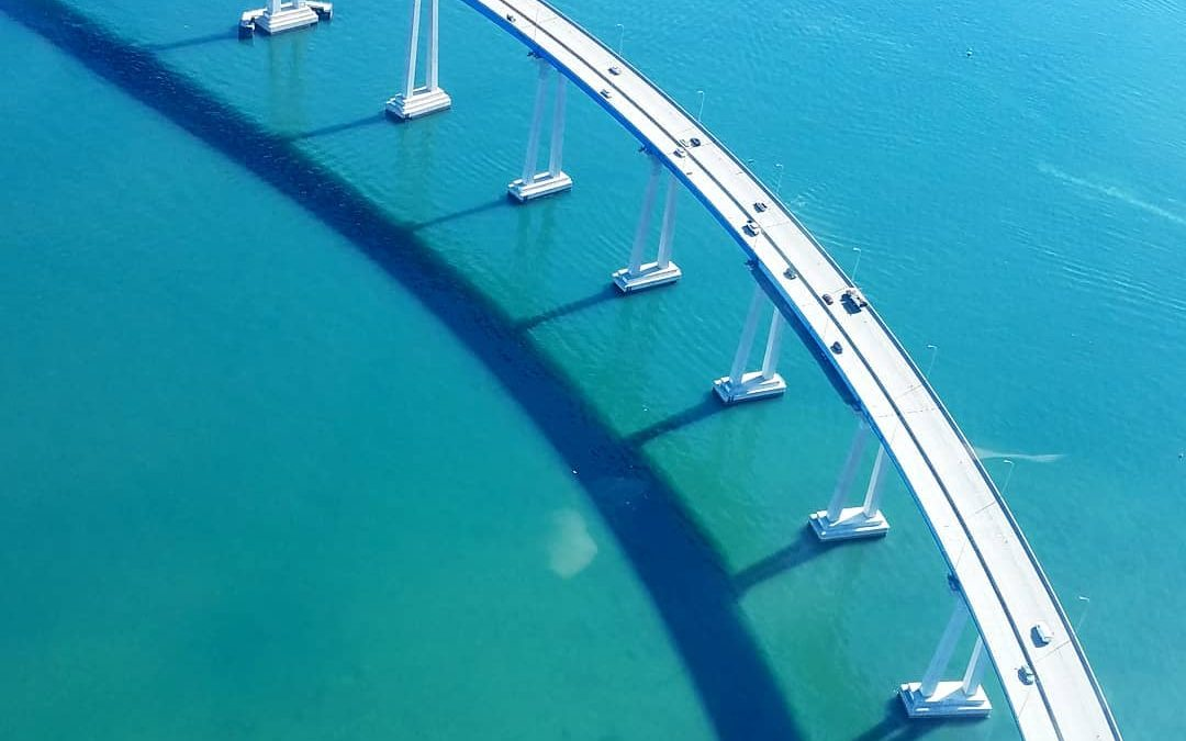 Aerial views of the Coronado Bridge Can you see this photo hanging in your home? Take your photography to the next level and display it on canvas! Stretched canvases aren't just for museums anymore!