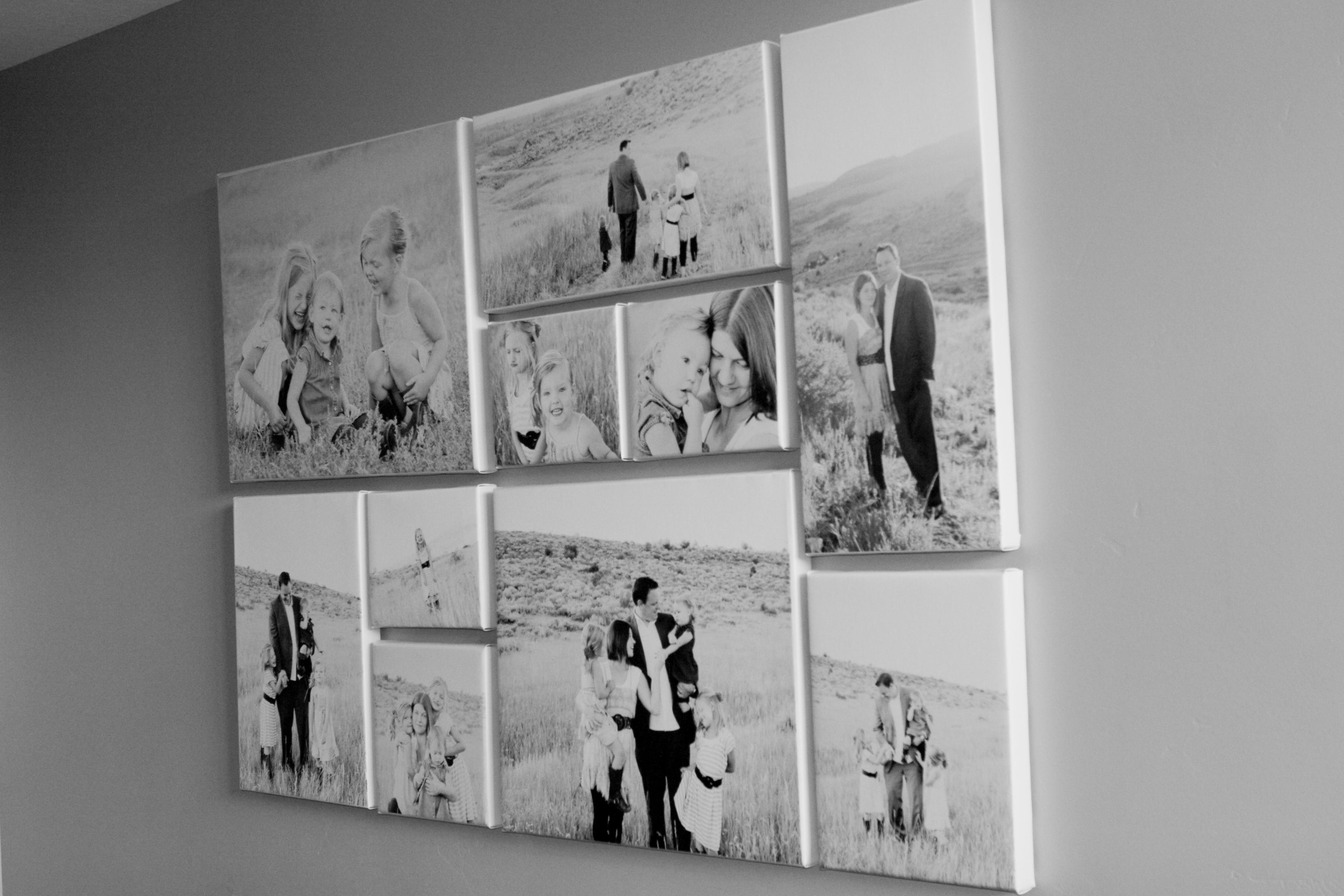 Family photo canvas prints a la mode