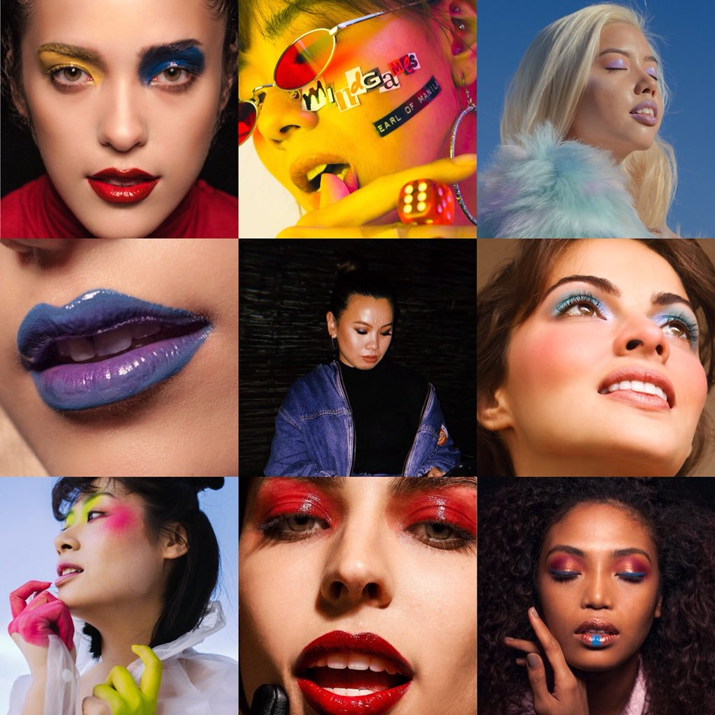 Beauty Salon Instagram Collage