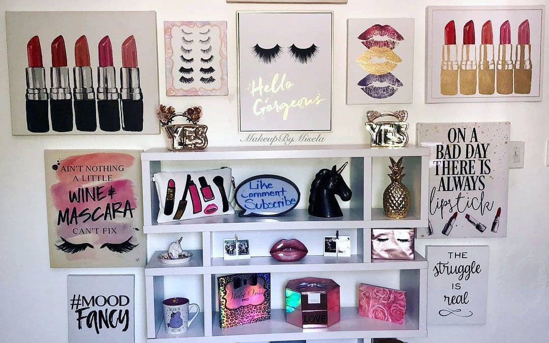 Major Beauty Room Inspo Loving this makeup wall by @makeupbymisela
