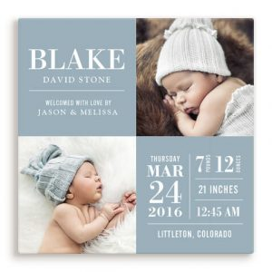 Blue Baby Photo Canvas