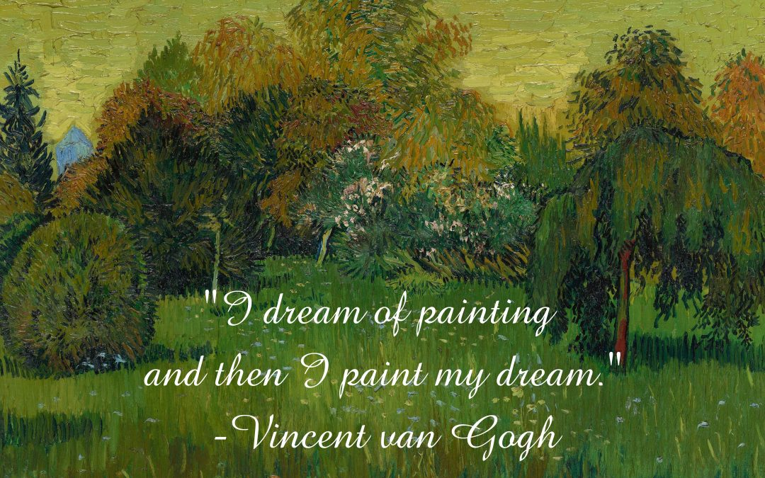 Fine Art Backgrounds: Get Your Own Van Gogh or Monet on Canvas!